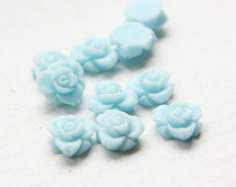 10pcs Acrylic Flower or Bunny Cabochons-Blue 12mm (28F4-A-167)