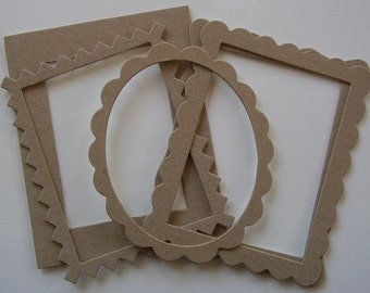 5 Pc. FRAME KiT - CHiPBOARD Bare Die Cuts Shapes