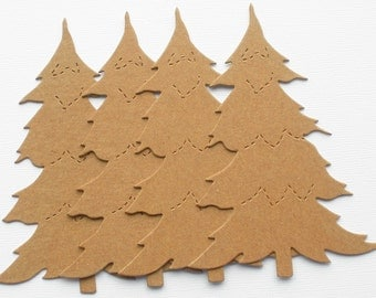 PINE TREE - Chipboard Die Cuts - Christmas Bare Shapes
