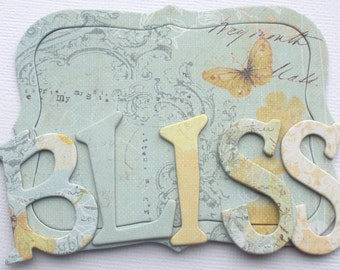 "SUNKISS BLISS - Prima Chipboard Letter Die Cuts - Alphabet Sets and Ornate Notes -  1.5"" Tall"