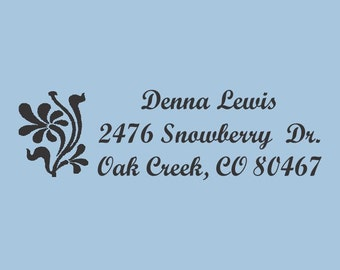 Custom Self Inking Stamp Denna Lewis Design 200-016