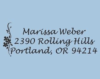 Custom Return Address Self Inking Stamp Marissa Weber Design 200-033