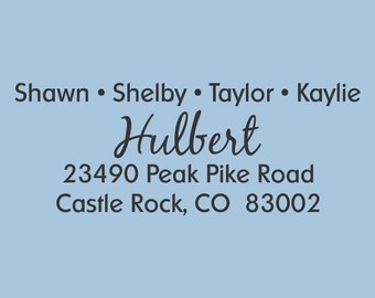 Custom Return Address Stamp Self Inking  Hulbert Design 200-024
