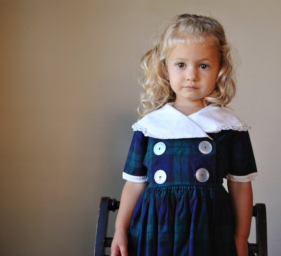 1950s Double Breasted Party dress, size 2t/3t