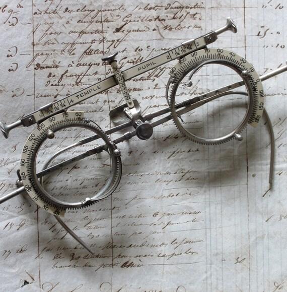 RESERVED for TARA Antique Vintage Optometrist Trial Lens Frames