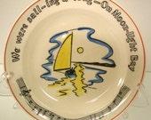 Vintage Fondeville Song Plate - Moonlight Bay