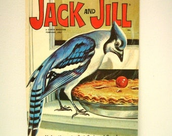 Vintage Jack and Jill Magazine with Wrigley Pop Up Insert 1967