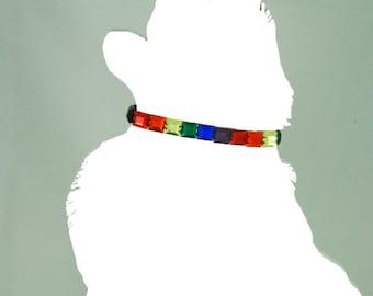 """12"""" Rainbow Dog Collar"""