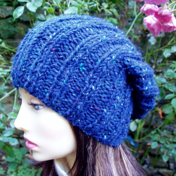 KNITTING PATTERN/SEATTLE Chunky Knit Slouch Hat for by artesana
