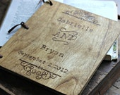 Custom Wedding Guest Book - Vintage Style Engraving