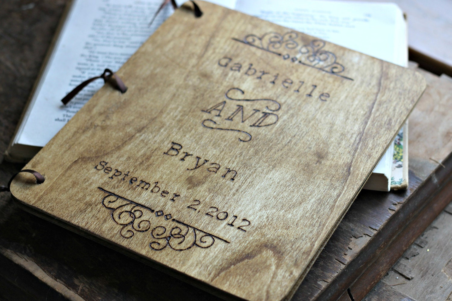 Diy Guest Book Cover ~ Wedding guest book guestbook rustic
