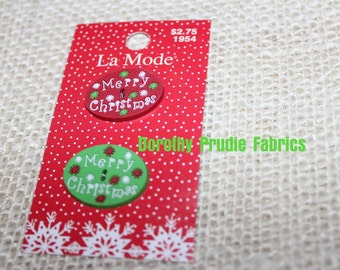 BUTTONS MERRY CHRISTMAS oval buttons