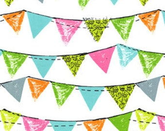 Clearance FABRIC HAPPY BIRTHDAY Party Bunting Banner Flags Mix and Match  1/2 Yard