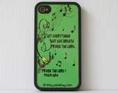 iPhone 4, 4S Case, Praise, Yellow Bird, Christian, Cover, Plastic, Rubber, Sublimate, Gift, Inspiration, Encourage, Cell Phone, Accessories