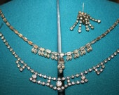 Vintage Rhinestone Hollywood Regal 1940's era vibrant costume jewelry Lot