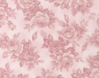 Pristine 2 by Robert Kaufman tone on tone vintage rose colored floral flowers No.11455-1/2 Yard