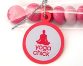 Yoga Chick Candy Favor Bags for Treats Favors, Set of 12, Red