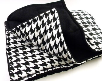 XL Microwave Heating Pad, Large Heat Pack, Hot Pack Cold Pack, Throw Blanket, Rice Bag Heat Bag, black white