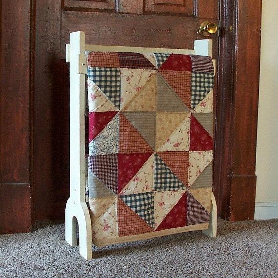 Primitive Quilt Rack Free Standing Blanket Storage By Sawdusty