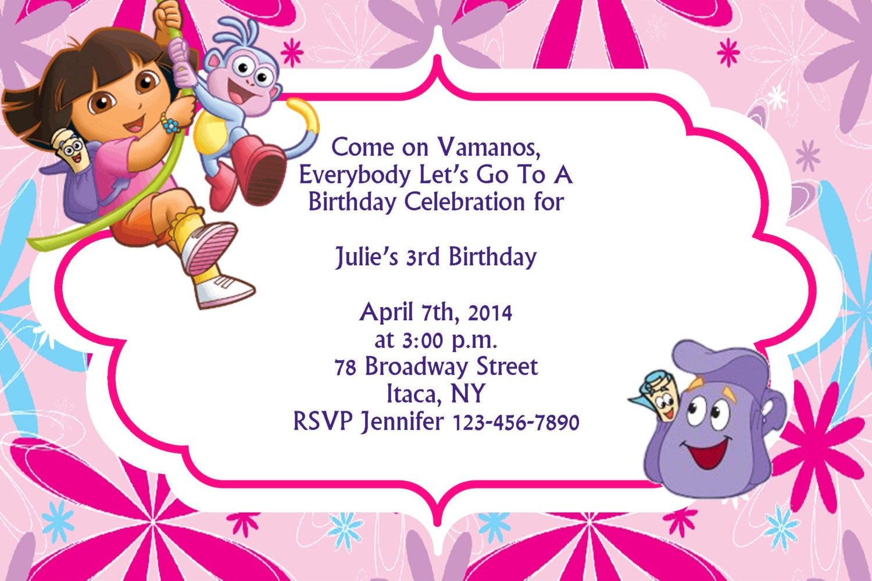 Dora Party Invitation personalised anniversary card 35th birthday – Dora Party Invites