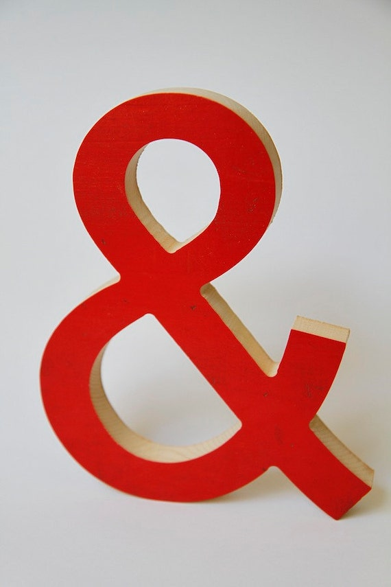 LAST ONE: Reclaimed Wood - Ampersand Sign