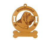 1805 Bloodhound Head Personalized Ornament