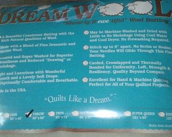 Quilt Batting, Wool Batting, Quilters Dream Wool Batting- Crib Size Batting