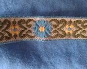 "7 yards 1/2"" blue daisy trim or edging - retro - vintage"