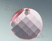 18mm Light Rose Swarovski crystal Twisted drop pendant, style 6621 (1)