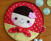 Matryoshka Doll Mini Zipper Pouch Coin Purse