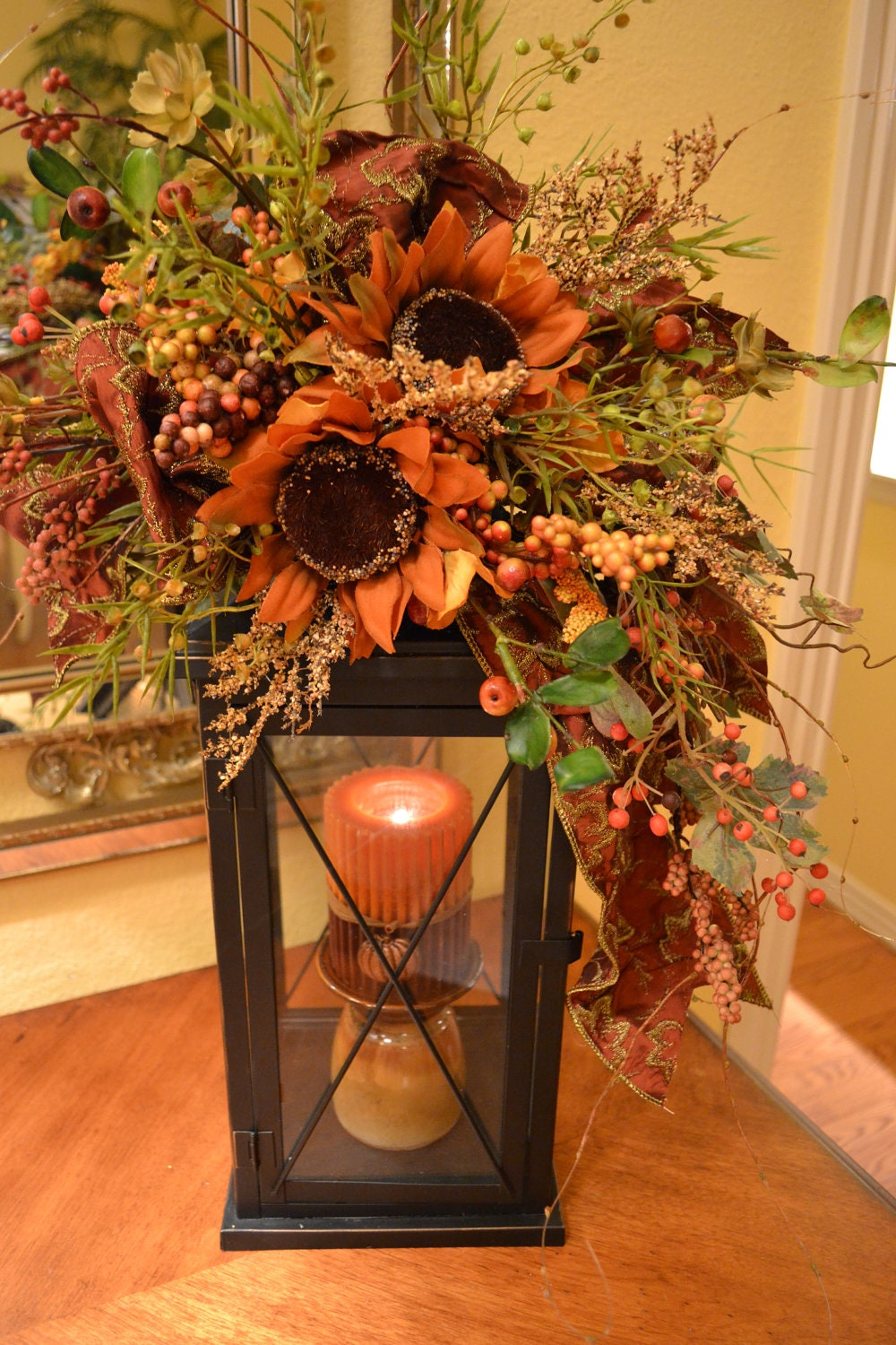 Fall lantern swag for Fall home decor