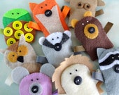 Felt Forest Critter Finger Puppets Sewing Pattern - PDF ePATTERN