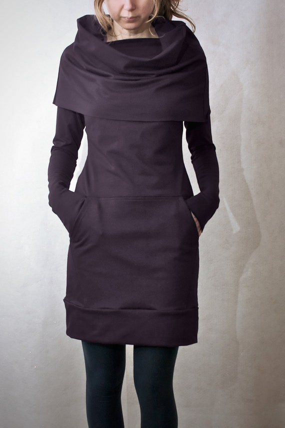 Eggplant Cowl Neck Pocket Tunic - ONLY 1 MORE AVAILABLE