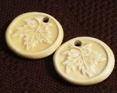Ceramic Leaf Charms