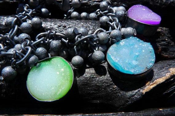 rainbow druzy bracelet by BeijoFlor