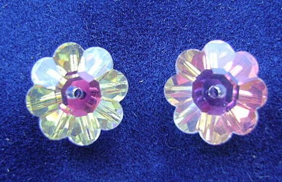 Beads, SWAROVSKI, 12mm,  Margurita, RARE, Crystal AB,  Art 3700, Flower, Sew On