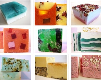 SOAP -6 vegan soaps. Pick any 6 of my handmade soaps and receive flat rate shipping
