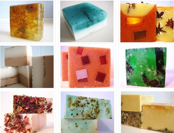 SOAP -5 handmade soaps.  Pick any 5 vegan soaps from my shop and receive flat rate shipping.