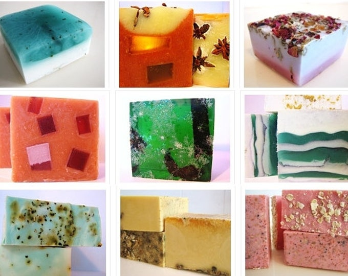 SOAP -5 vegan soaps. Pick any 5 of my handmade soaps and receive flat rate shipping
