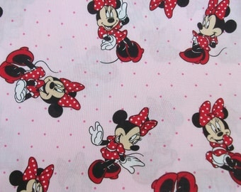 Children's Hooded Bath Towel-  Minnie Mouse on Red