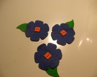 Fall  Purple with Orange Flower  Felt cutout