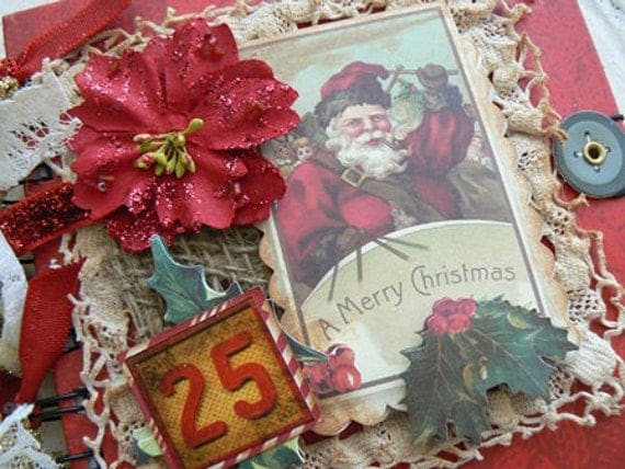 DEC 25TH Altered Art Holiday Journal