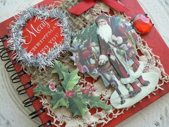 MERRY CHRISTMAS to YOU Altered Art Holiday Journal