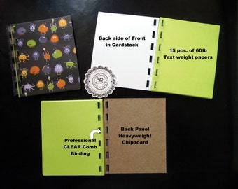 HALLOWEEN Mini Notepads, Note Books, Halloween Party Favors, Mini Pad, Jotter Professional Binding, VARIETY Designs, All Handmade by Annie42