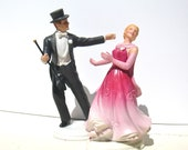"Vintage Ginger Rogers & Fred Astaire Porcelain Figurines - Avon ""The Barkleys of Broadway"" Collectible"