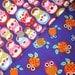 zakka fabric scraps - Matryoshka Russian dolls & hoot hoot owls
