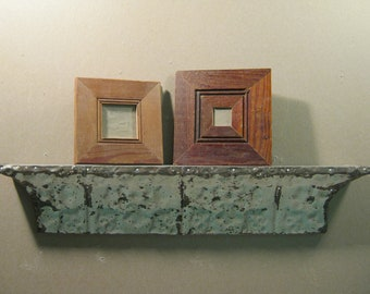 Set of TWO Small 2x2 / 3x3 Wood Salvaged Shabby (Chic) Reclaimed Picture Frames S814-12