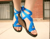 MOPED High Wedge Slide Sandal by Mohop | Handmade Vegan Shoes with 5 Interchangeable Ribbons