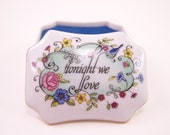 vintage 1981 little franklin porcelain music box made in japanplays  tonight we love new in the box