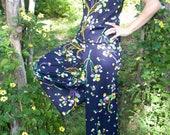 3 Piece Vintage Handmade Bellbottom Pants Suit